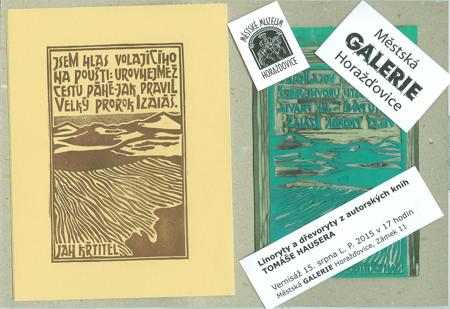Výstava linorytů a dřevorytů autorských knih Tomáše Hausera