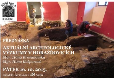Aktuální archeologické výzkumy v Horažďovicích