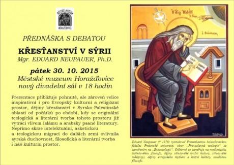 Historie křesťanství v Sýrii, Dr. Eduard Neupauer