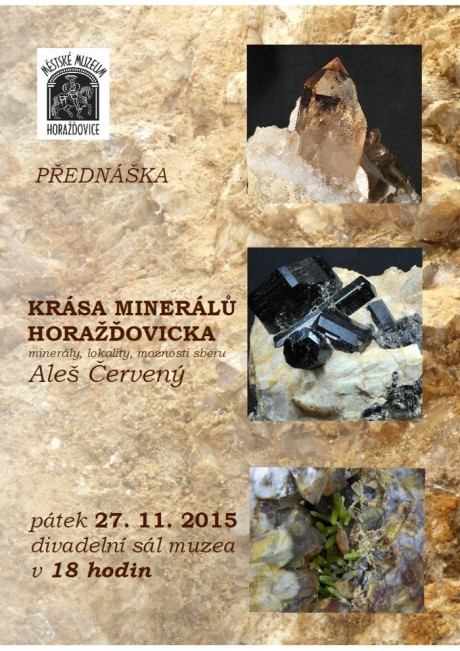 Aleš Červený: Krása minerálů Horažďovicka (minerály, lokality, možnosti sběru)