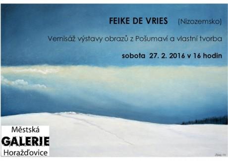 Vernisáž FEIKE DE VRIES